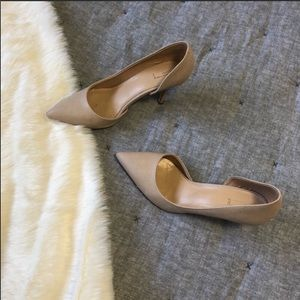 Aldo textures nude heels sz.9 well loved condition